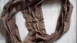 Cum on Marya&acute_s dirty panties