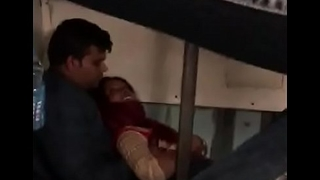 Honeymoon desi couple in train