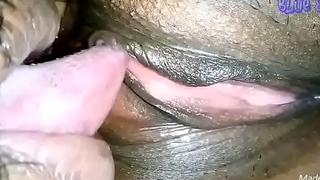 Licking pussy closeup