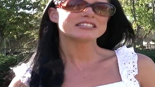 Soccer mom gets picked up from the park and fucked