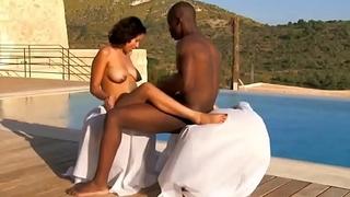 African Ebony People Fuck Outdoors