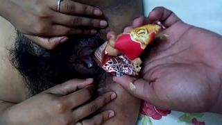 mallu girl ketki from mumbai helping boyfriend to insert cone ice cream in pussy