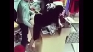 Girlfriend hardly fuck from behind inside shop 1494353413120