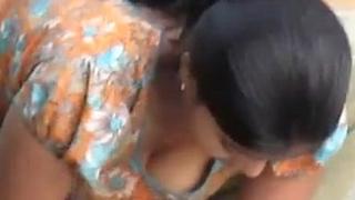 Showing boobs in publice hidden cam