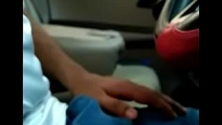 Public Indian dick flash in car