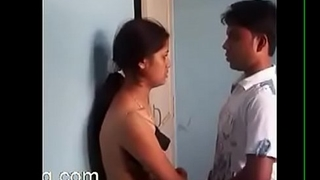 Desi hawt school gf and bf engulfing love love bubbles, giving a kiss