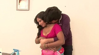 Sexy indian b-grade scene. Desi maid has her boobs pressed nicely.