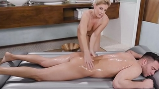 Hot milf India Summer riding young guy