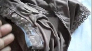 Showing my Indian wife&acute_s dirty panties